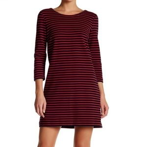 J Crew striped dress 3/4 sleeve